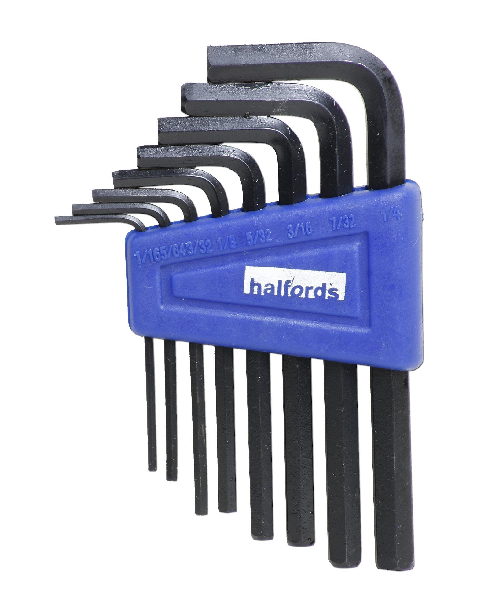 Image of Halfords AF 8 piece Hex Key Set