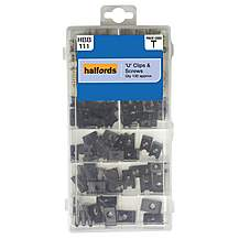 image of Halfords Assorted U Clips & Screws