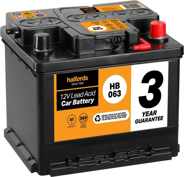 Halfords Hb063 Lead Acid 12v Car Ba