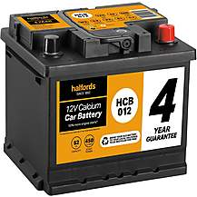 image of Halfords HCB012 Calcium 12V Car Battery 4 Year Guarantee