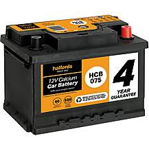 image of Halfords HCB075 Calcium 12V car battery 4 year Guarantee