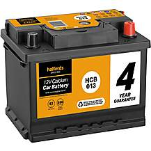 image of Halfords HCB013 Calcium 12V Car Battery 4 Year Guarantee
