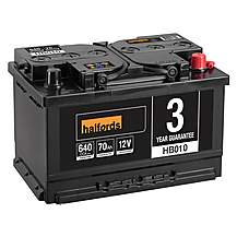 image of Halfords HB010 Lead Acid 12V Car Battery 3 Year Guarantee