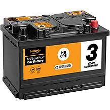 image of Halfords HB096 Lead Acid 12V Car Battery 3 Year Guarantee