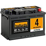 Halfords HCB096 Calcium 12V Car Battery 4 Year Guarantee