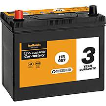 image of Halfords HB057 Lead Acid 12V Car Battery 3 Year Guarantee
