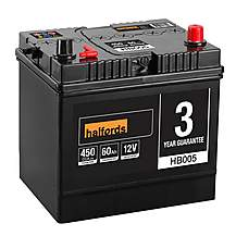 image of Halfords HB005 Lead Acid 12V Car Battery 3 Year Guarantee