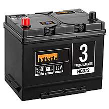 image of Halfords HB072 Lead Acid 12V Car Battery 3 Year Guarantee