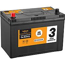 image of Halfords HB334 Lead Acid 12V Car Battery 3 Year Guarantee