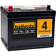 image of Halfords HCB072 Calcium 12V Car Battery  4 Year Guarantee