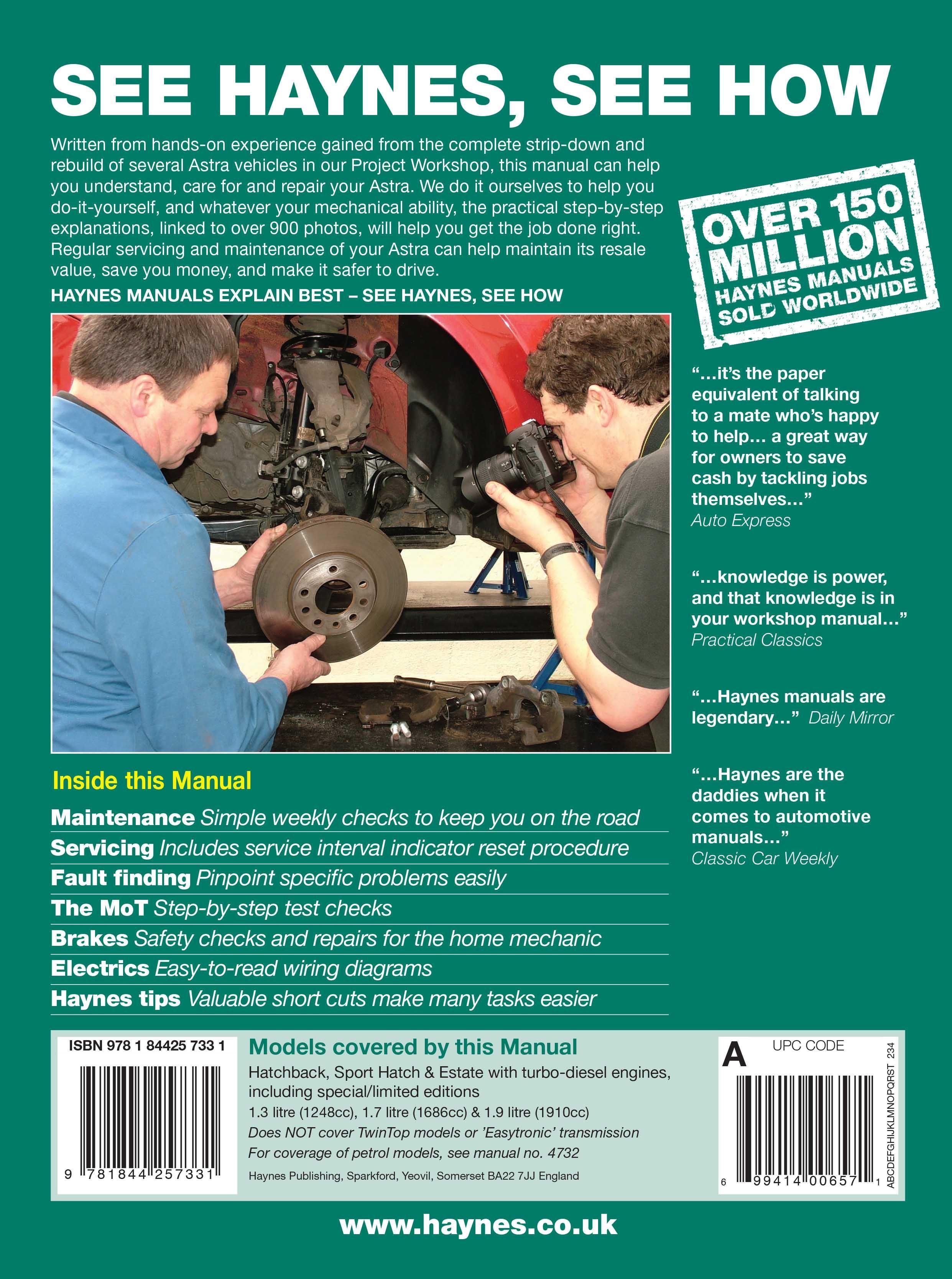 haynes vauxhall astra diesel may 0 rh halfords com opel astra h 2008 service manual opel astra h 2007 service manual