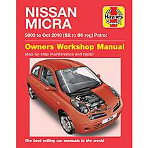 image of Haynes Nissan Micra (03 - Sept 07) Manual