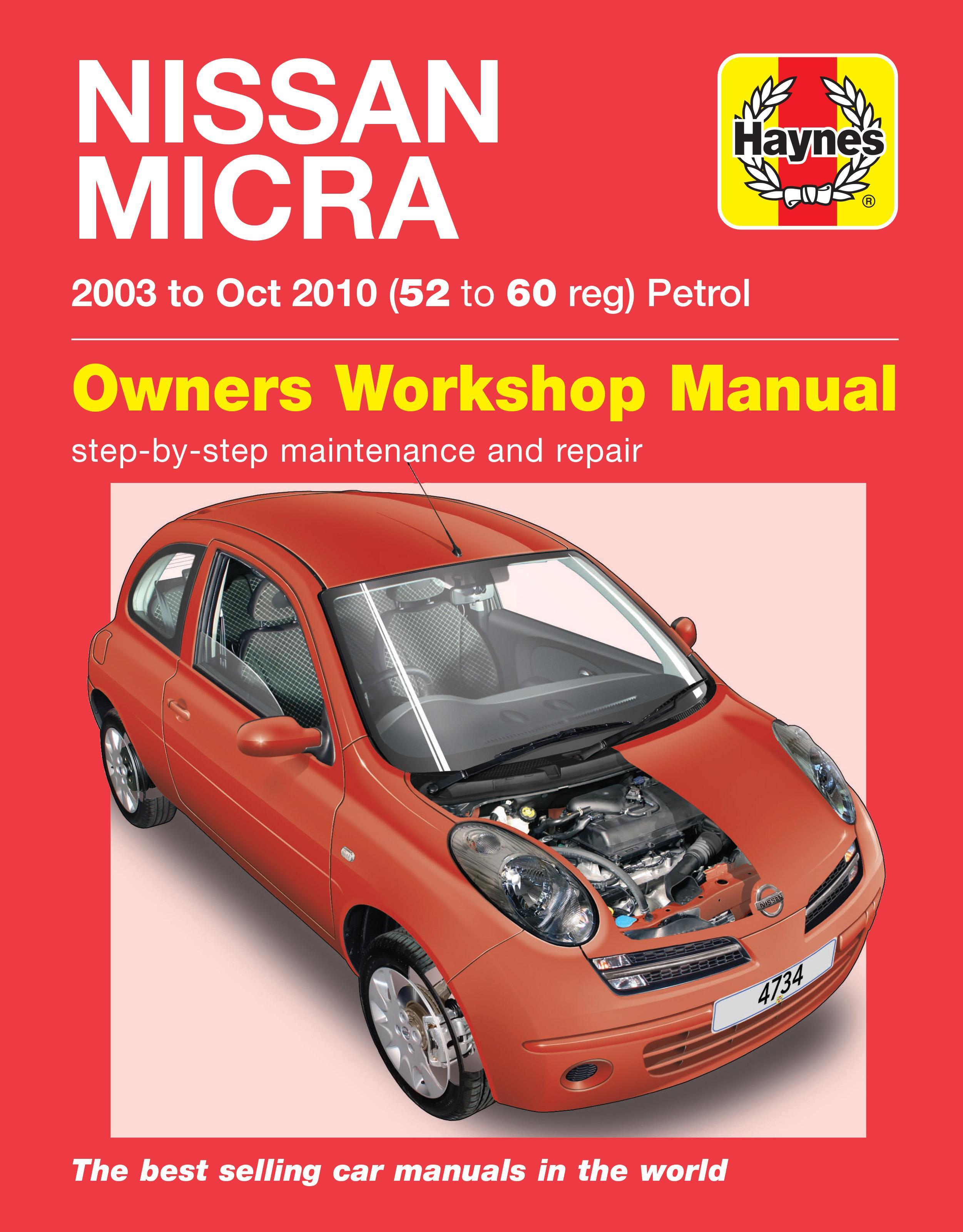 haynes nissan micra 03 sept 07 rh halfords com Nissan Micra 2000 2007 Nissan Micra