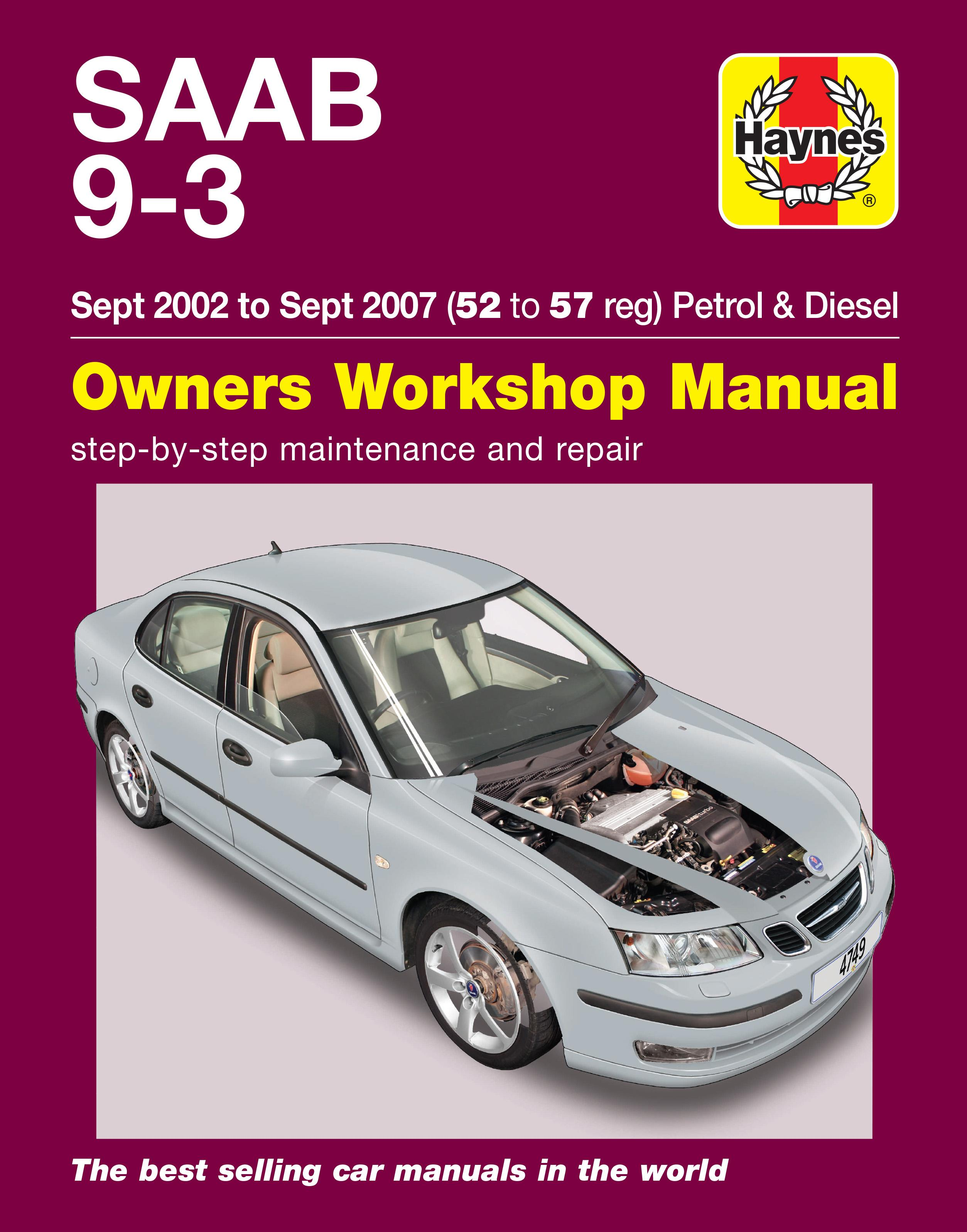haynes saab 9 3 sept 02 sept 07 rh halfords com saab 9-3 owner's manual pdf 2006 saab 9-3 owner's manual