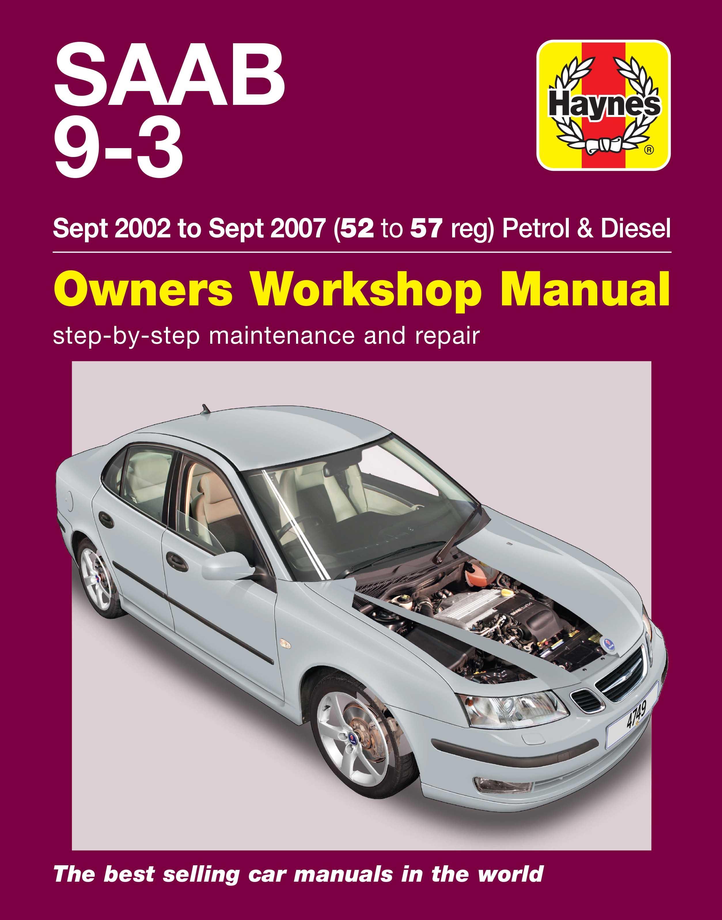 haynes saab 9 3 sept 02 sept 07 rh halfords com saab manual transmission for sale saab manuals online free