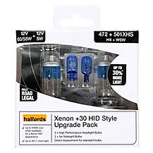 image of Halfords 472 H4 Pure White HID Effect Upgrade Pack