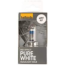 image of Halfords 477 H7 Pure White HID Effect Car Bulb x 1
