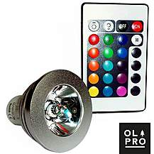 image of Olpro Colour Changing LED Bulb (MR16) with Remote