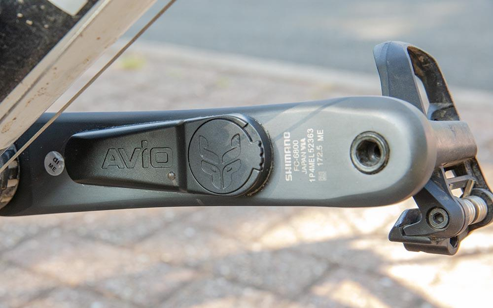 Avio PowerSense on bike