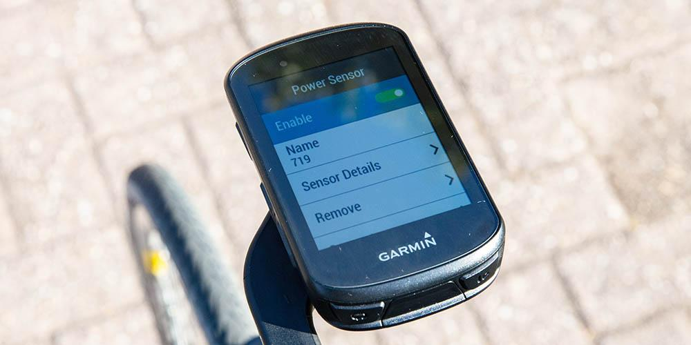 Avio PowerSense paired with Garmin Edge 530