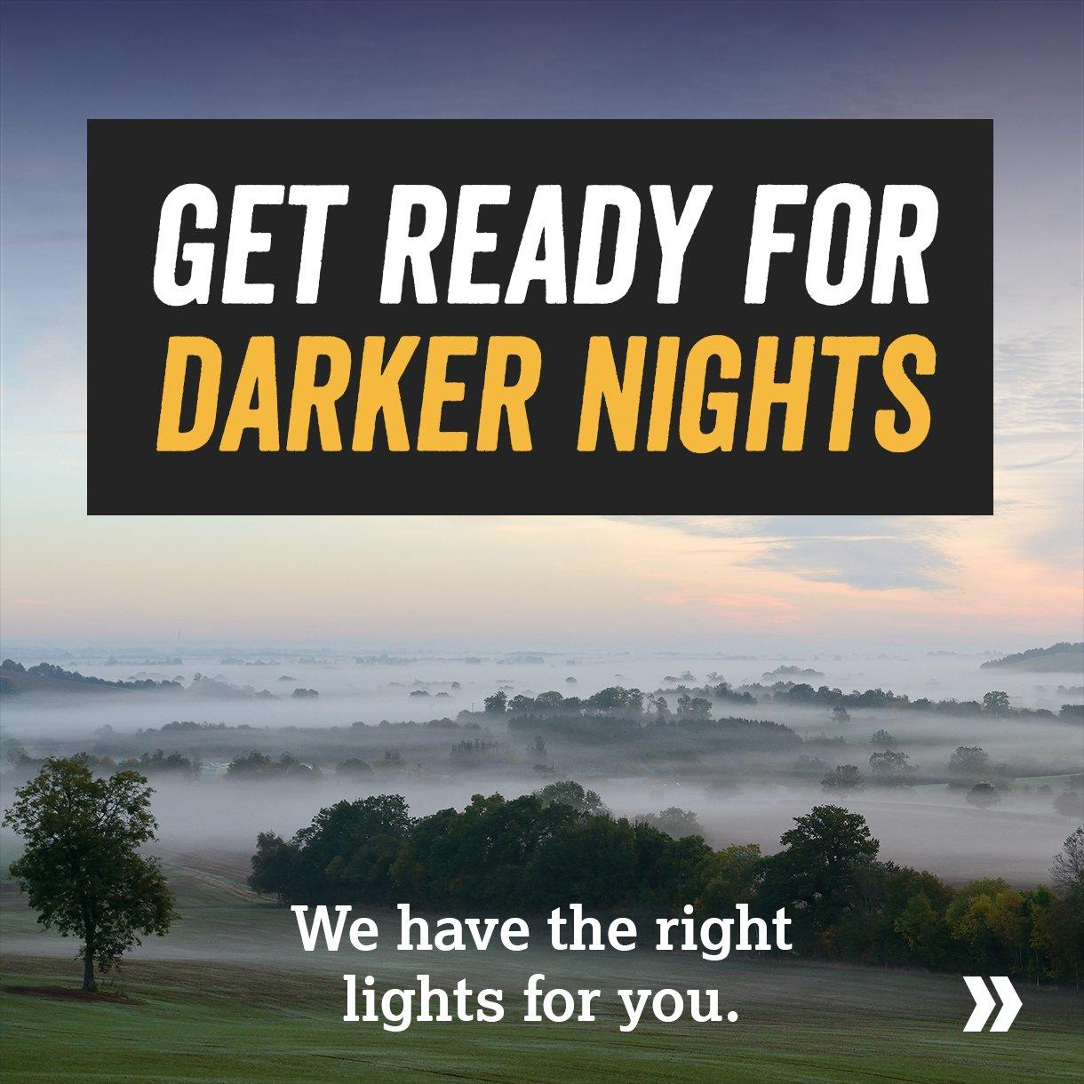 Get Ready for Darker Nights