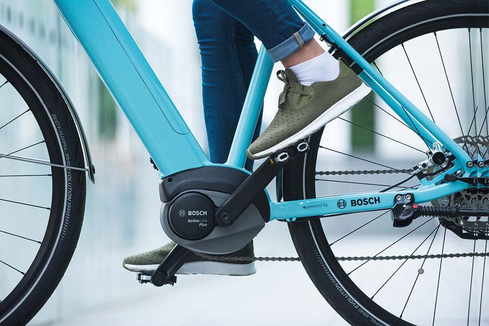 Bosch e-bike motor in use