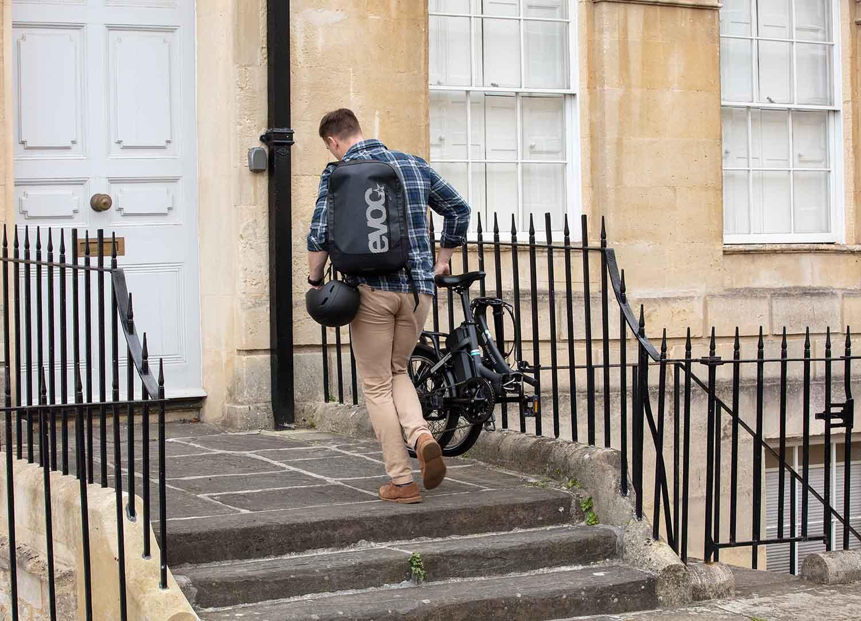 Carrying a folding electric bike