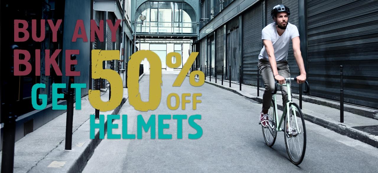 Buy Any Bike Get 50% Off Helmet