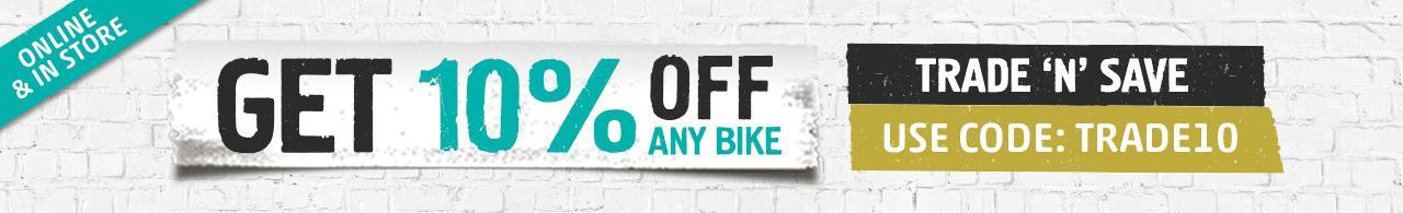 Get 10% Off Any Bike