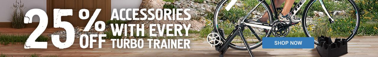 25% off accessories with every turbo trainer