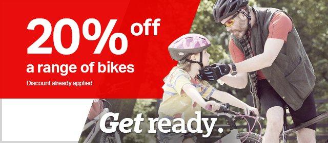 20% off a range of bikes