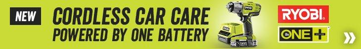 Ryobi - Cordless car care powered by one battery