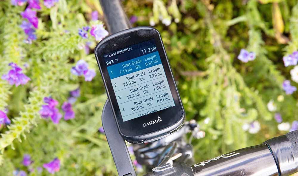 Climb summary on the Garmin Edge 530