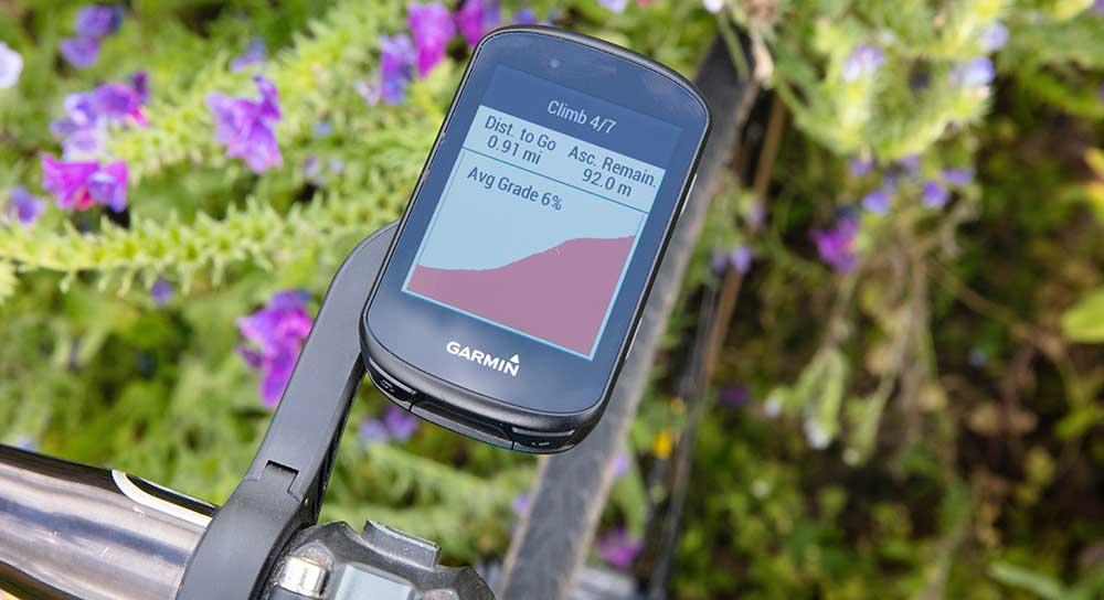 Climb gradient on the Garmin Edge 530
