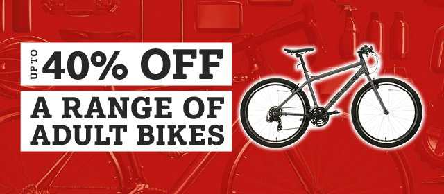 40% off a range of adult bikes