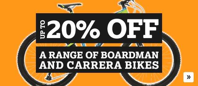 20% off a range of Boardman and Carrera Bikes