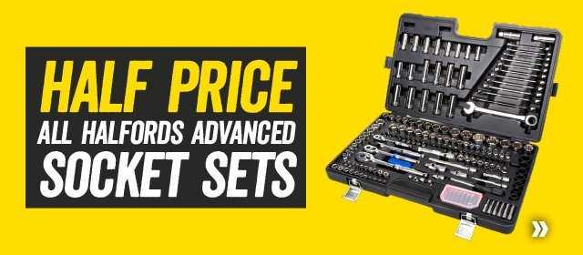 Half Price All Halfords Advanced Socket Sets