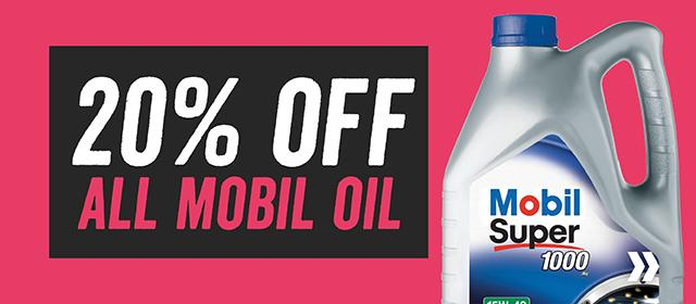 10 off all mobil oil