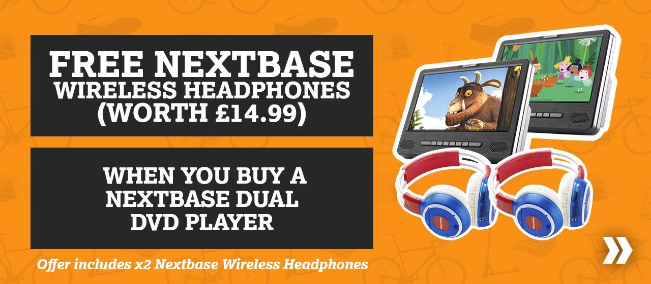 Free Nextbase CAR Series Wireless Headphones When You Buy A Nextbase Dual DVD Player