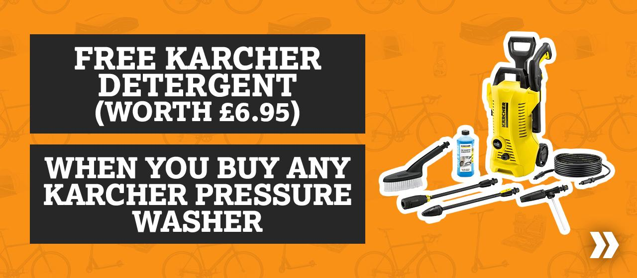 Free Karcher Detergent When You Buy Any Karcher Pressure Washer