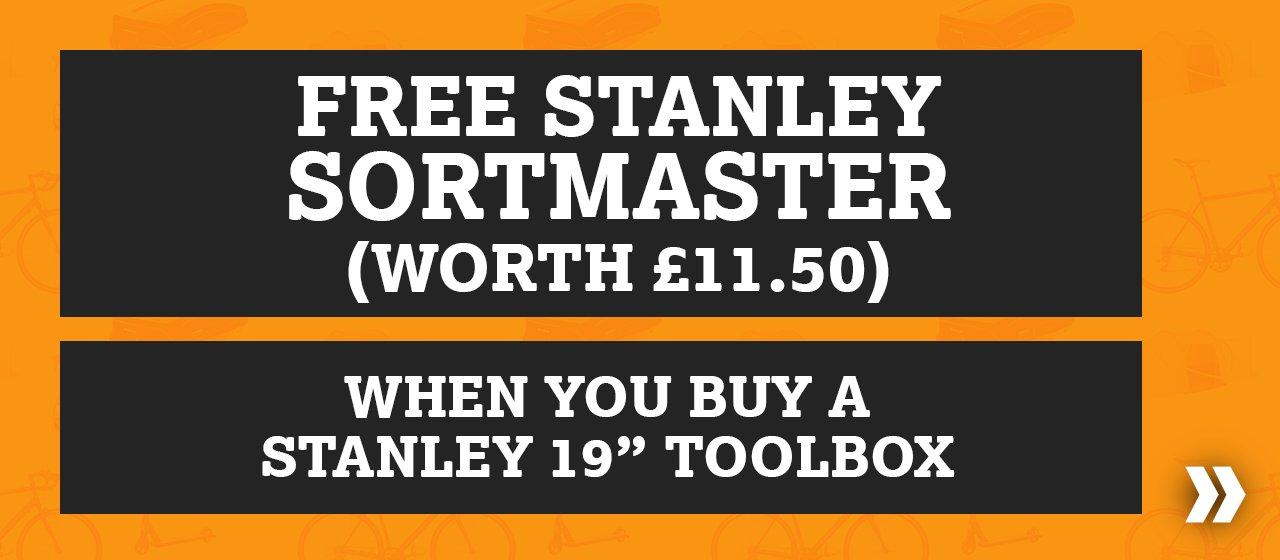 Free Stanley Sortmaster When You Buy a Stanley 19 Toolbox