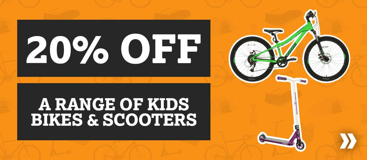 20% off a range of kids bikes and Scooters