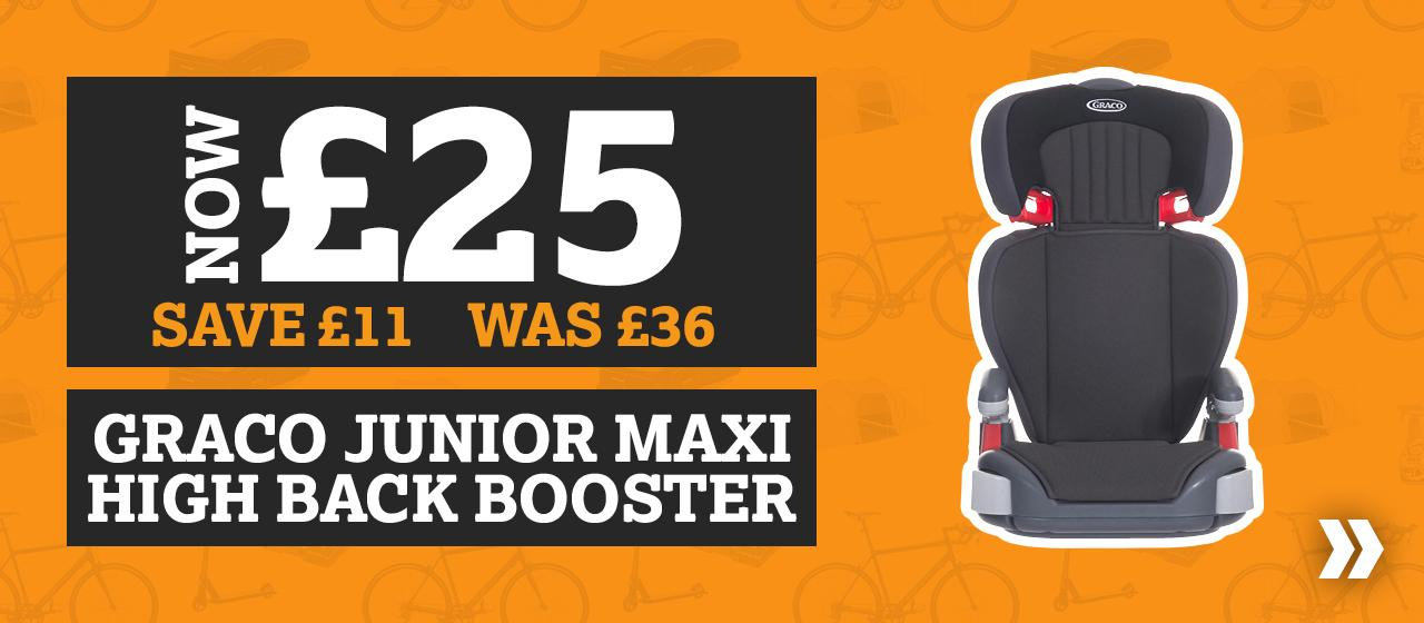 Save £11 Graco Junior Maxi High back booster