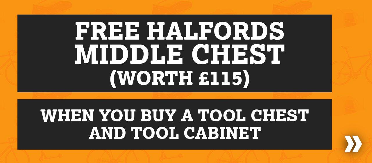 Free Middle Chest when you buy a tool chest and tool cabinet (worth from £115)