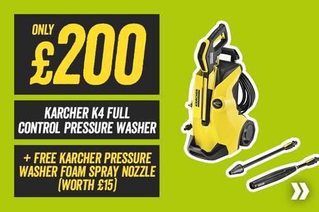 Free Karcher Pressure Washer Foam Spray Nozzle WYB a Karcher K4 Full Control Pressure Washer (Worth £15)