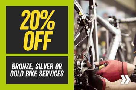 20% off Bronze Silver and Gold Services