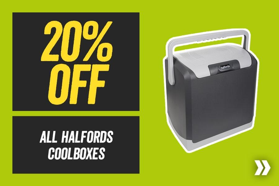 20% off All Halfords Coolboxes
