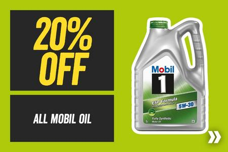 20% off All Mobil Oil