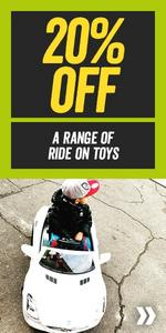 20% off a range of Ride on Toys