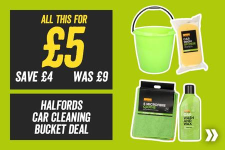 All This For £5 Halfords Car Cleaning Bucket Deal (Save £4)